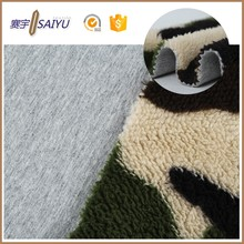 wholesale polyester fleece bond 100 cotton jersey knit fabric for sale