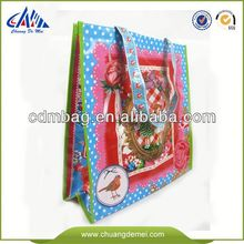 Green Promotional stock shopping bag