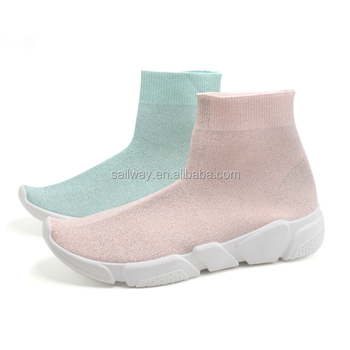 Wholesale Custom Fashion Brand Pvc sock sneakers