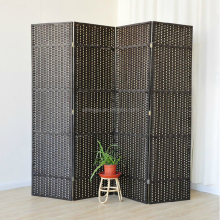 Handmade Black Paper Solid Wood Wedding Screen Hanging Room Divider Partition