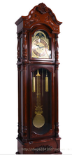 Antique Style High Oak Wooden Floor Clock for Living Room with Factory Price