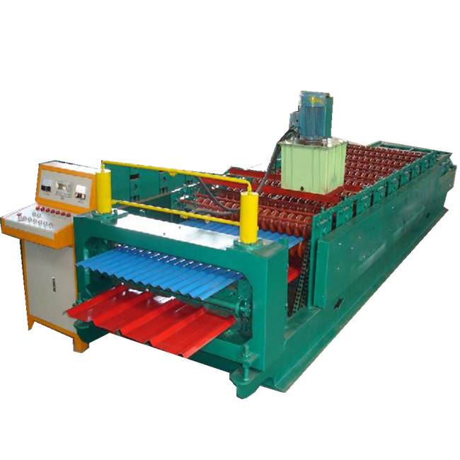 high quality double layer galvanized tile roofing sheet making machine