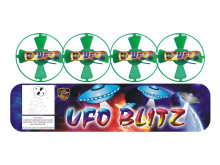 Small Children Playing Pyrotechnics 96/6 SQS470 UFO BLITZ Toy Fireworks