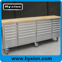 Hyxion Tool chest 96'' 24 drawer & cabinet rolling kraftwelle germany tool trolley