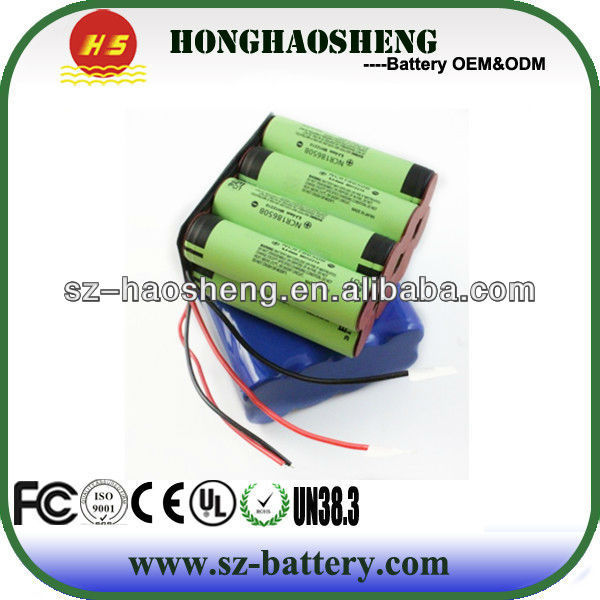 11.1V 12Ah lithium ion battery cell cgr18650