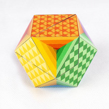 OEM platic 3D three layers puzzle 7cm diamond cube