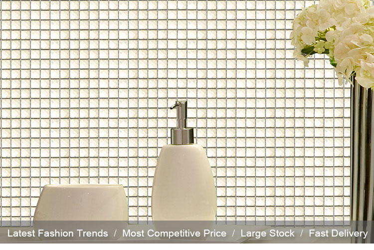 Gold Beveled Decorative Wall Mirror Glass Mosaic Tile