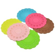 Heat Proof Silicone Rubber Mat Pot Table Mat/ PVC Glass Drink Cup Coaster