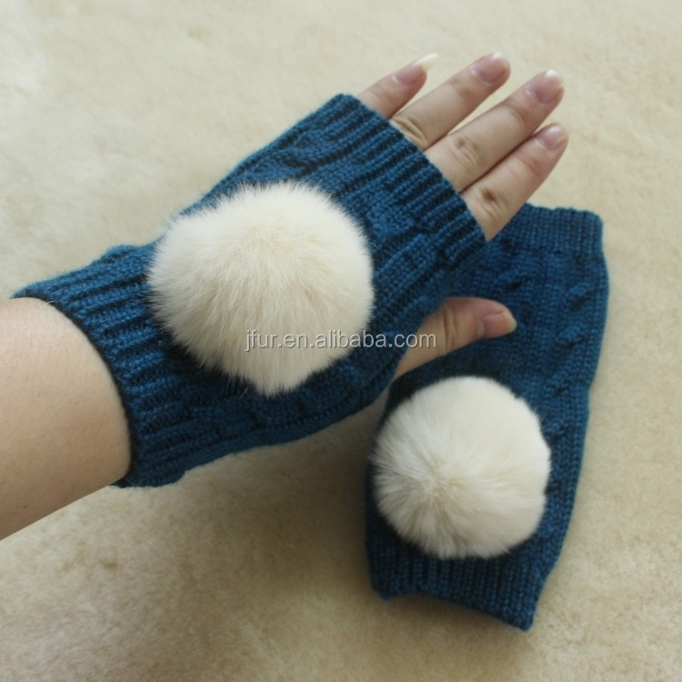 Women fingerless Comfortable Thick Knit 30%Wool for fashion girl Knitted Gloves