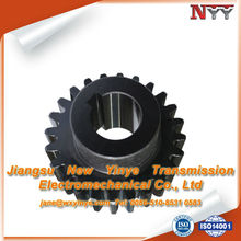 Line cutting small number of teeth gear