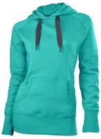 Fashionable ladies high collar strong fabric luxury brand imitations water proof hoody