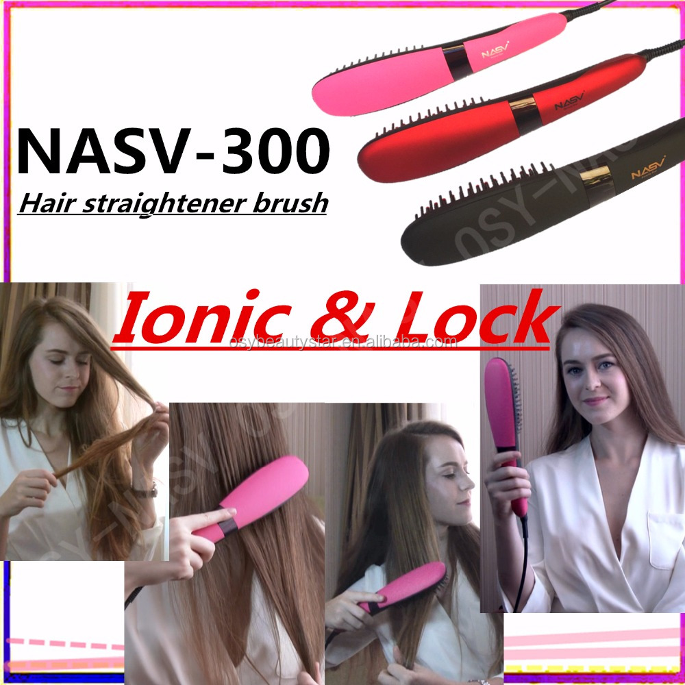 2016 OEM Best price Innovative Products 2017 Steam Irons Fast Hair StraightenerBrush