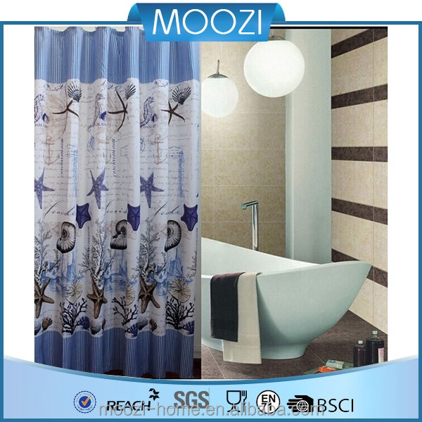 100% polyester shower curtain (new design)