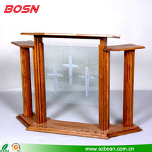 church pulpit designs high quality wooden lectern Perspex rostrum