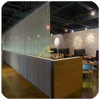 Decorative metal coil drapery,metal mesh curtain for home or restaurant room dividers