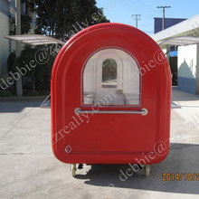 Hand push mobile hot dog cart / cheap hot dog cart for sale