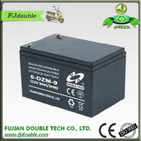 Hot sale small rechargeable low rate cheap scooter 12v exide 9ah battery