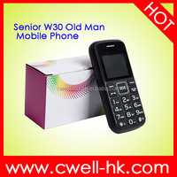 Senior W30 Big Button Low Price old man mobile phone with big battery