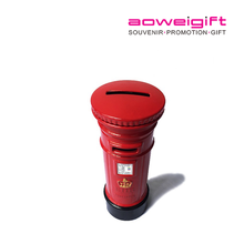 Metal London Souvenir Mailbox Money Box Diecast British Post Box Money Box