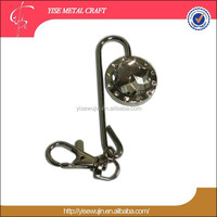 China factory supplier acrylic purse hook crystal diamond bag hanger/key finder
