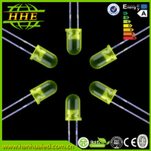 round high bright 5mm yellow led diode