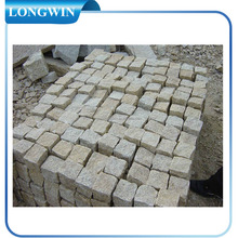 yellow granite pavement stone cubes for sale