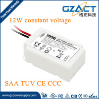 TUV SAA CE approved 220Vac 12Vdc 1A constant voltage 12w led driver for led strips