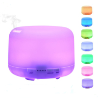 High Quality 500ml Aromatherapy Essential Oil diffuser 7 colors Light Ultrasonic Cool Mist Aroma Diffuser Humidifier