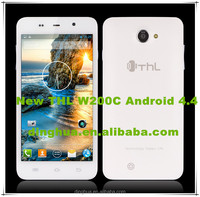"latest projector mobile phone THL W200C 6.0"" 720P screen MTK6592W OCTA-CORE Mali_450-MP4 2G RAM 16G ROM"