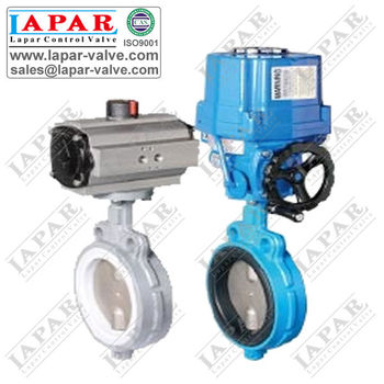 LPB14 Wafer Butterfly Valve with Pneumatic or electric Actuator, quality warranty