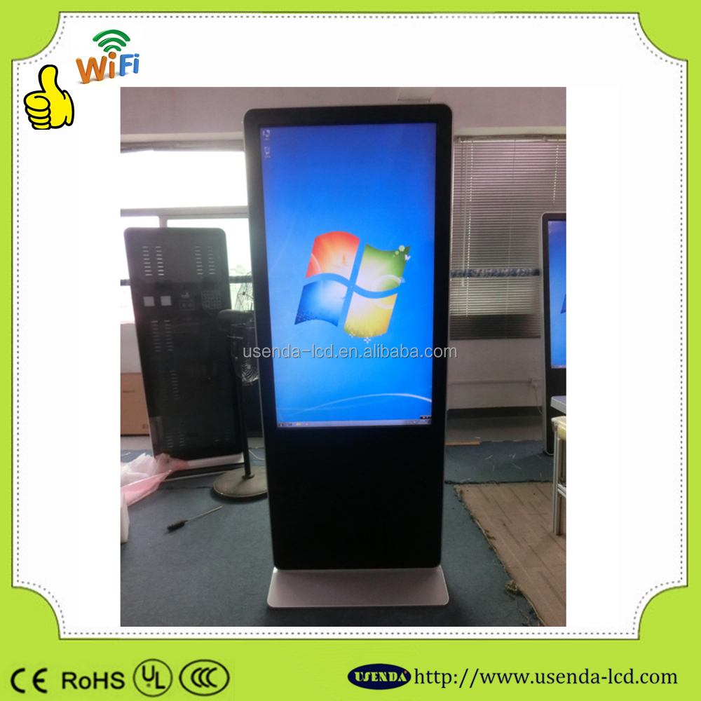 Standing 42 Inch Indoor bus tv advertising screen Windows System 6points Touch Screen LCD Advertising Player