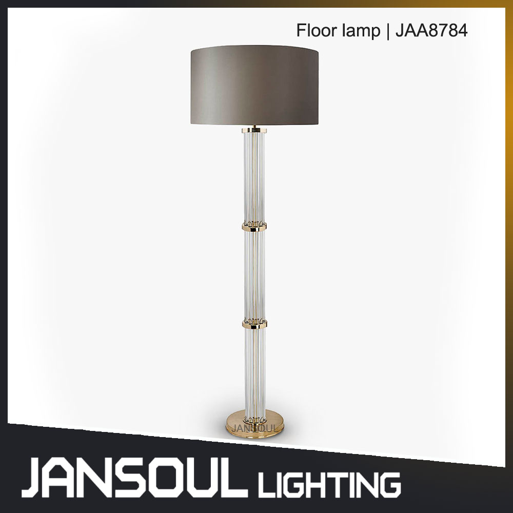 guzhen lighting market Hot sale modern fabric hotel standing floor lamp