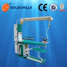 Commercial steam iron table with spotting function for hotel