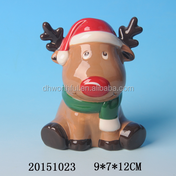 Lovely Christmas reindeer ceramic tumbler toothbrush Holder