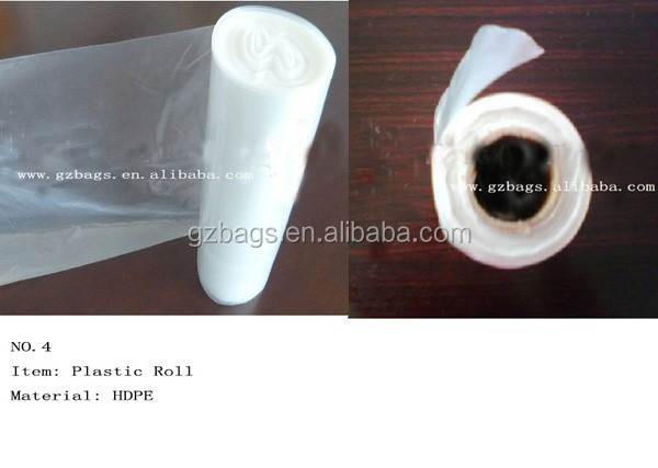 HDPE plastic bag roll