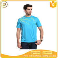 Breathable comfortable 95 polyester 5 spandex sports t-shirt men