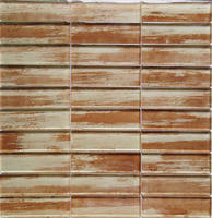300x300mm wood style classic beveled glass mirror mosaic tile