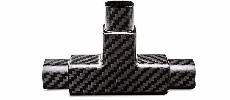 Top quality pipe fittings carbon fiber material light weight carbon fiber tube fittings