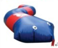 Snake shape inflatable paint ball 6m/12m long