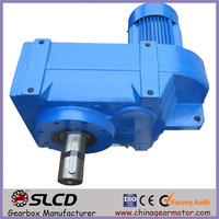 SEW F107 series parallel helical gearbox with solid shaft for conveyor