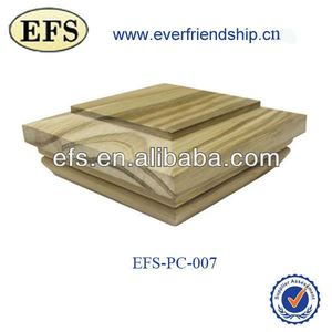 fashionable decorative pyramid wood post cap(EFS-PC-007)