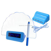 Message LCD Backlight Clock Calender Temperature Functions LCD Memo Board Highlighter Matched Table Clock