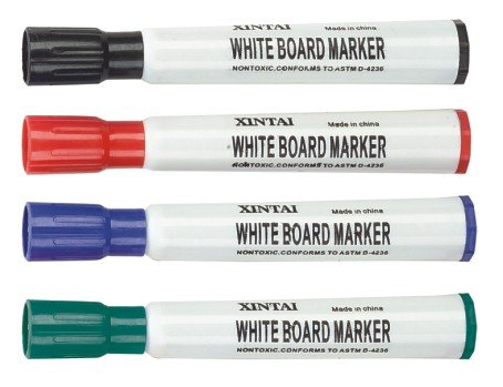 12 colors printed quick dry whiteboard marker with high quality ink