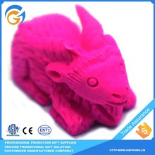 Red Rabbit Shaped School Pencil Cap Eraser