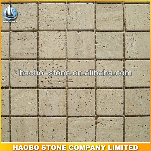 Haobo China Manufacturer Beige Tiles Marble Travertine