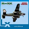 B25 radio control scale model propeller airplanes