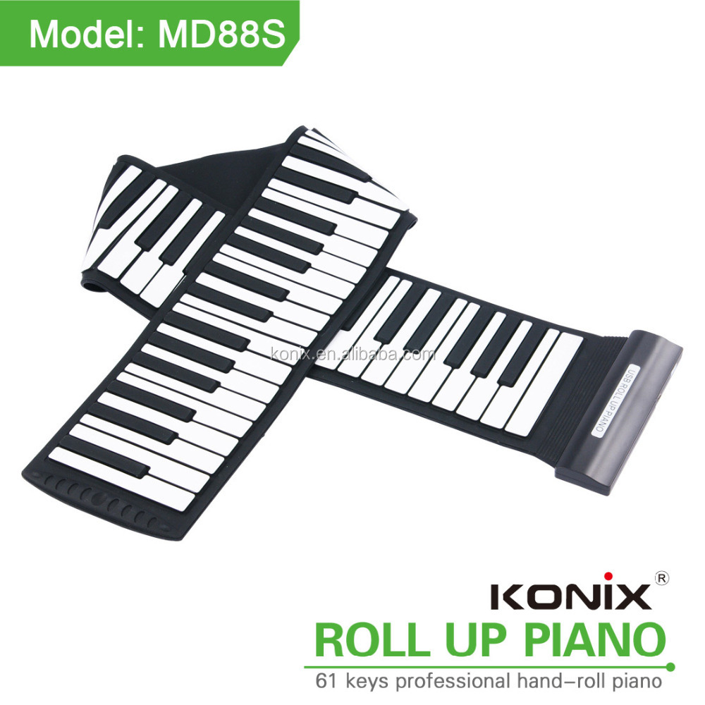 88Key USB Midi Flexible Keyboard Roll Up Piano with MIDI Editing Software