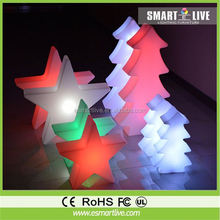Christmas tree decoration hanging plastic led star flashing christmas star