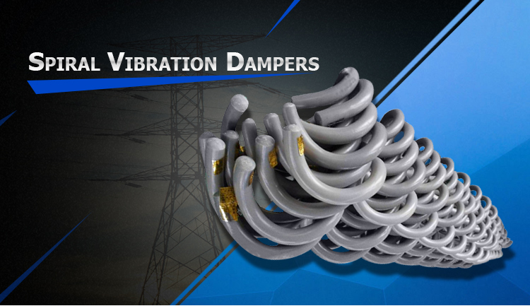 Helical rod spiral vibration damper