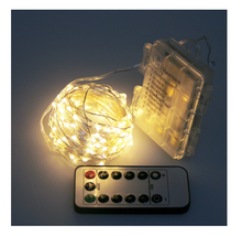 Outdoor Waterproof Remote Control Battery Operated Battery Powered LED String light fairy light star christmas light